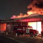 В Харькове на рынке «Барабашово» сгорели десятки павильонов