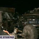 В Кировоградской области военный грузовик протаранил работников дорожной службы и перевернулся