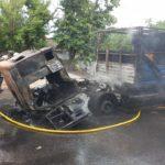 В Харькове во время езды загорелся грузовик «КАМАЗ», — ФОТО, ВИДЕО